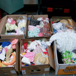 HUGE JOBLOT OF DOLLS CLOTHS ALL SIZES BOXES UPON BOXES FULL @SOLD@